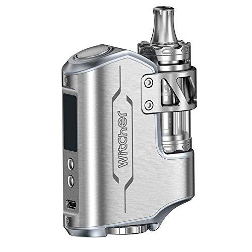 Witcher Cigarette électronique 75W tout en un Starter Kit TC boîte Mod E Shisha batterie amovible électronique Cigarette VW avec écran OLED sans Nicotine ni Tabac, Argent