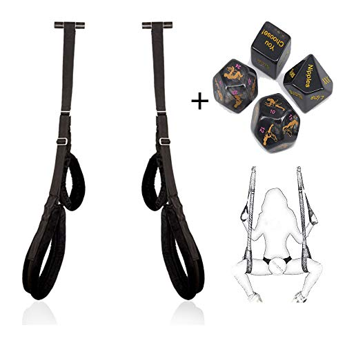 Poison Pear Portable Adjustable Mobile Straps Swing, Hanging door Swing Toys with 4 dice