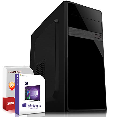 Multimedia Office PC AMD A10-4655K 4x2.8GHz Turbo Quad-Core|8GB DDR3|500GB HDD|Radeon HD HD7620G HDMI|DVD-RW|USB 3.0|SATA3|Sound|Windows 10 Pro|Made in Germany|3 Jahre Garantie
