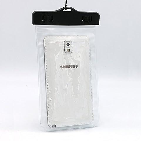 Étui étanche Housse Sac étanche Sac Sec Pochette pour téléphone portable, iPhone et Samsung Transparent