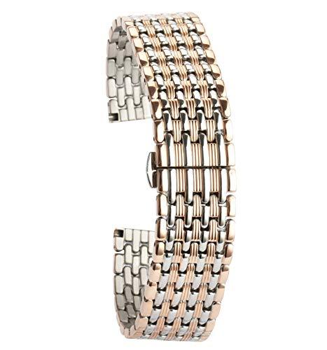 12mm Metallarmband Roségold Uhrenarmband Ersatz für Frauen
