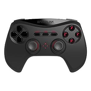Speedlink Wireless Gaming Controller – Strike NX Gamepad für PS3 (Bis zu 10 m Reichweite – Bis zu 8 h Spielzeit – Analogsticks und drucksensitive Tasten für perfekte Kontrolle) Kabellos Schwarz