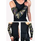1Pcs Compression Arm Sleeve Sports Elbow Pad Crashproof Arm Guard Shooter Sleeve for Football Basketball Tennis Weightlifting : Army Green, L