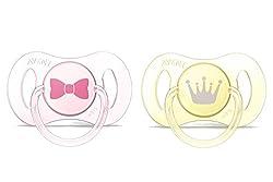 Philips Avent Mini Schnuller 0-2 Monate SCF151/02, Doppelpack, Mädchen, rosa/gelb