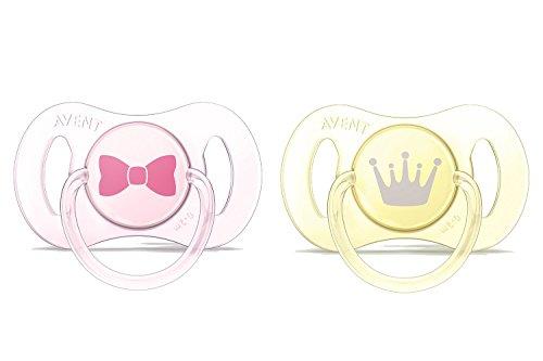 Philips Avent Mini Schnuller 0-2 Monate SCF151/02, Doppelpack, Mädchen, rosa/gelb (Neugeborene Beruhigungssauger Mädchen)