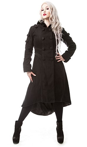 Poizen Industries -  Cappotto  - Donna nero M