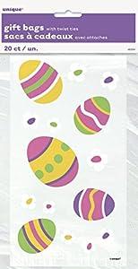 Celofán del partido del huevo de Pascua Bolsas, Paquete de 20