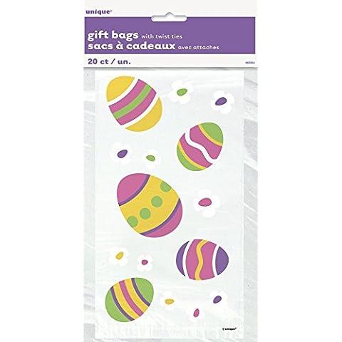 Uovo di Pasqua in cellophane Sacchetti per feste, confezione da (Pasqua Violoncello Borse)