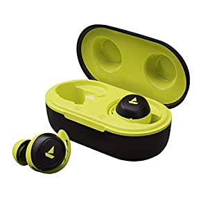 boAt Airdopes 441 TWS Ear-Buds with IWP Technology, Immersive Audio, Up to 18H Total Playback, IPX6 Water Resistance, Super Touch Controls, Secure Sports Fit & Type-C Port(Spirit Lime)