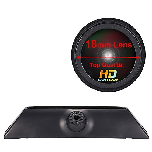 Auto Dritte Bremsleuchte Kamera HD 18mm Objektivstiel Bremslicht Rückfahrkamera Wasserdicht Einparkhilfe Farbkamera für Transporter FIAT IVECO Daily 4 Gen 2011-2014(18mm neu Lens)