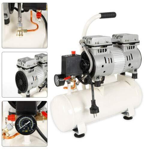 DHL - Compressore ad aria compressa, senza olio, 12 l, 680 W