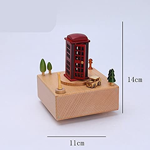 Lwcx The Rotating Wooden Music Box Ornaments D