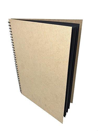 Artway Enviro - Skizzenbuch - 100 % Recycling - Schwarzes Papier/Karton - A3 - 30 Blatt mit 270...