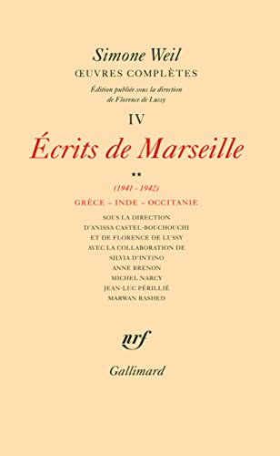 uvres compltes (Tome 4 Volume 2)-crits de Marseille (1941-1942))