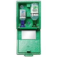 Preisvergleich für Notfall-Wandbox mit Augenspülflaschen - 1 x Kochsalzlösung, 1 x pH-neutral - HxBxT 270 x 225 x 110 mm - Augendusche...