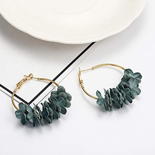 ADD Ohrringe Ohrringe Für Frauen Modeschmuck Ohrringe Big Band Weibliche Sommer Tropfen Ohrring Blume, Ez1Lv (Sterling Silber Big-band-ohrringe)