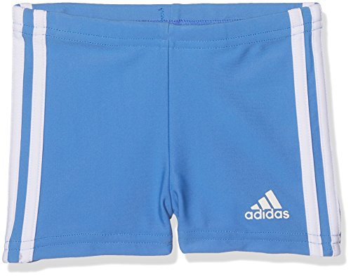 adidas Inf 3S BX KB - Badeanzug Kinder, Farbe: Blau/weiß, Größe 80