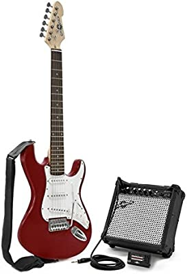 Guitarra Eléctrica LA 3/4 + Pack de Ampli - Granate