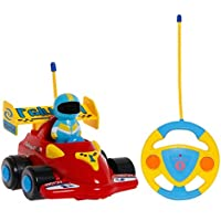 PowerLead Prac C009 RC Car Cartoon Cars Action Figure Cars Music Playing Cars Toy for Toddlers and Babies