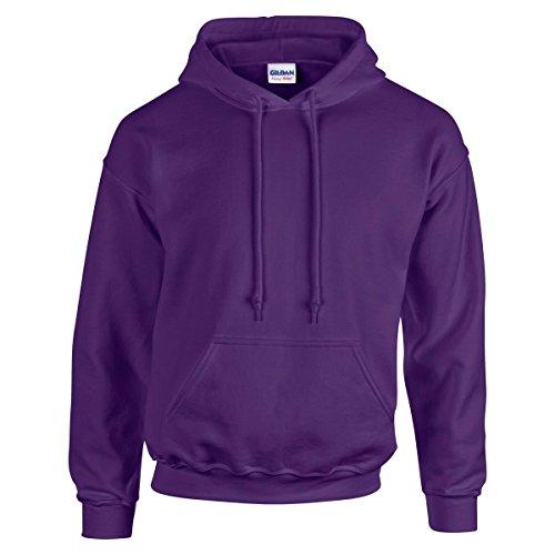 NEW Gildan Heavy misto per adulti, foderato doppio Felpa con cappuccio W/Tasca Purple
