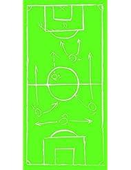 Fuente Toalla para deportes Fútbol - verde - con estampado Campo de fútbol - tamaño: 70 x 140 cm - artículo para Fan EM/WM