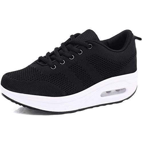 Mujer Zapatillas de Deporte Malla Air Cuña Cómodos Sneakers Mujer Casual Running Senderismo Ligero...