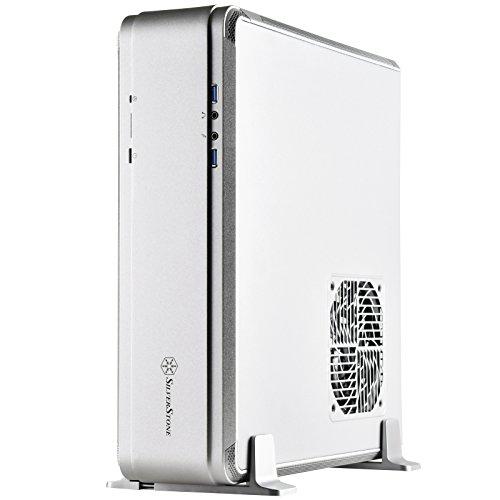 SilverStone SST-FTZ01S-E - Fortress High End Mini-ITX Gaming HTPC Gehäuse, kompatible mit ATX (PS2) Netzteilen, silber