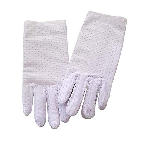 Koala Superstore 2 Paar weiße Spandex Handschuhe Kostüm formelle Kleidung Handschuhe Etikette Handschuhe für Männer -
