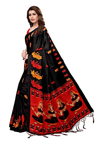 45d6e5772a 79% OFF on Lovender Fashion Women's Designer Saree With Blouse Piece(Multi  Colored)