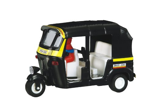 Shinsei Toys Black Yellow Big Auto Rickshaw