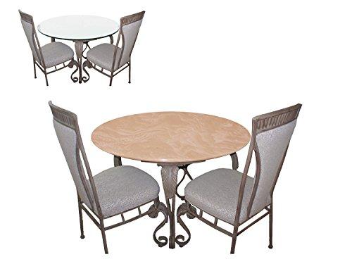 Tischabdeckung für Glastische bis 121,9 cm Durchmesser Color Mokka für alle runden Tische, Esstisch, Terrassentisch, Indoor/Outdoor (Round Table Cover Elastisch)