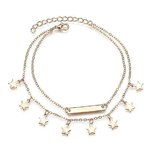 OUTANG fußkette Silber fußkette 925 Damen Unendlichkeit Fußkette Natürlich Fußkettchen Symbol Fußkette Einstellbare Fußkettchen Perlen Knöchel Armband