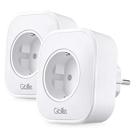 Presa Intelligente WiFi con USB, GBlife Smart Wifi Plug, Controllo Remoto/Controllo Vocale, con Interruttore e Timer, Compatibile con Google Home/Amazon Alexa/IFTTT (2 Packs)