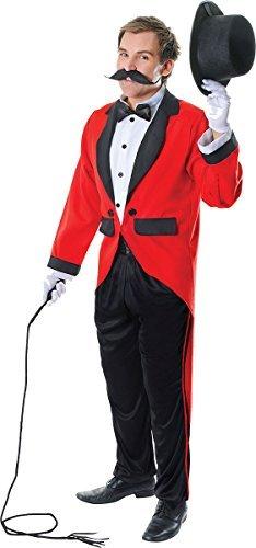 Erwachsene Kostümparty Circus Lion Tamer Zirkusdirektor Herren Komplettes Kostüm