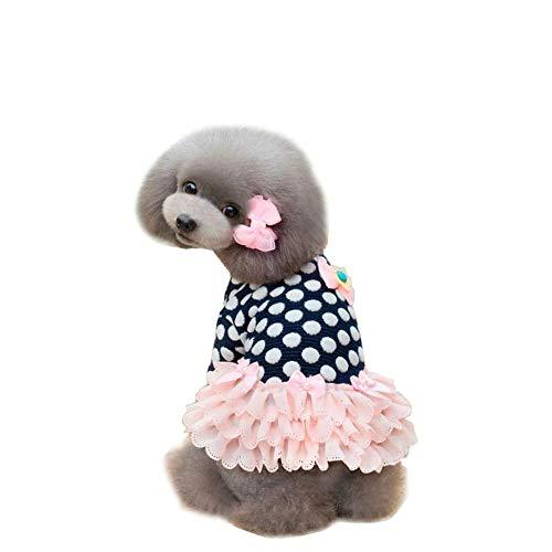 ZHONGCHENYI Pet Supplies Süße Sweety Dog Winterkleid Warme Hundekleidung Pudel Teddy Dog Puppy Pet Kleid Kleidung Bekleidung Kostüm S-XXL Für Kleine Hunde, XL