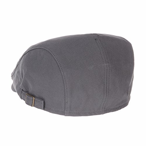 WITHMOONS Béret Casquette Chapeau Cotton Simple Vintage Newsboy Hat Flat Cap AC3225 Gris