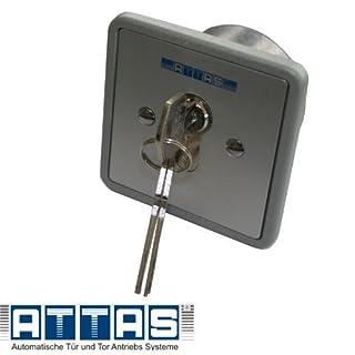 ATTAS Schlüsselschalter SE - UPRA 1-1 T mit Profilhalbzylinder für Torantriebe, Rollläden