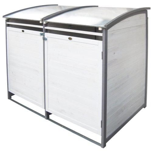 *Habau 3140 Mülltonnenbox 120 Liter Doppel, 122 x 76 x 116 cm*