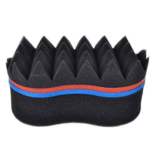 Kapmore Éponge brosse de cheveux éponge afro-usage à double usage éponge éponge cheveux Twist