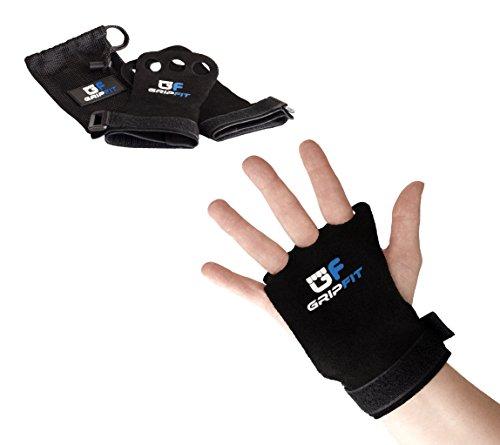 GripFit Grips – 3 Finger Premium Crossfit Handschuhe inkl. Tasche – Hand Grips Pull up Grips Handschutz für Turnen, Calisthenics, Gymnastics, Gewichtheben (M)