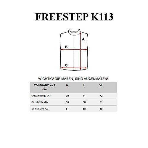 BOLF Herren Weste Steppweste Bodywarmer Jacke Übergangs Kapuze Mix Feestep Ärmellos Dunkelblau_K113