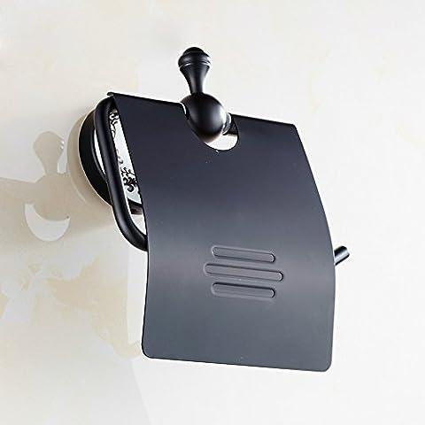 ZHGI Spazio di bronzo di alluminio portafazzoletti toilet paper tray nero blu e bianca porcellana carta igienica vassoio porta il volume wc porta bobina