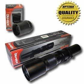 Opteka 500/1000mm Alta Definición Preset teleobjetivo para Canon EOS 7d, 6d, 5d, 1DX, 70d, 60d, 50d, 40d, T5i, T4i, T3i, T3, T2i y SL1Cámaras réflex digitales
