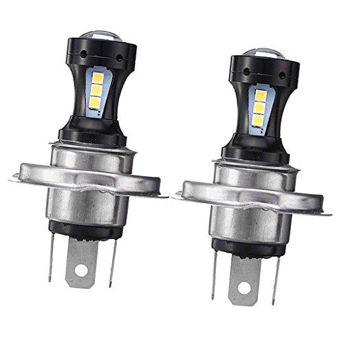 Homyl 2pcs LED Ampoules H4 18W Lumière Projecteur Feu de Brouillard Phare 6000K Blanc