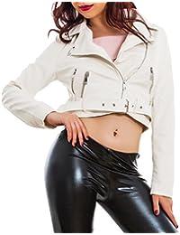 Toocool Giacca donna corta ecopelle pelle avvitata giacchetto chiodo  giubbino sexy B506 6dd96effb9aa