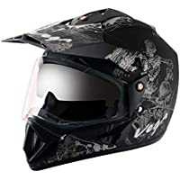 Vega - OR-D/V-SKT-DKS_M Off Road D/V Sketch Dull Black Silver Helmet-M