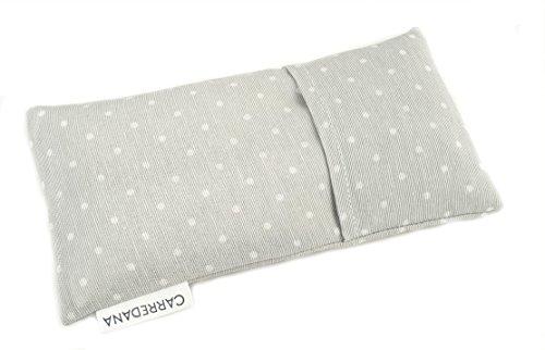 Saco térmico anti-cólicos bebé de semillas de trigo y lavanda.23 x 12cm (Gris topos)