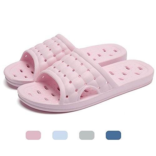 Uomini e donne pantofole antiscivolo sandali da bagno massaggio rosa chiaro eu 39-40