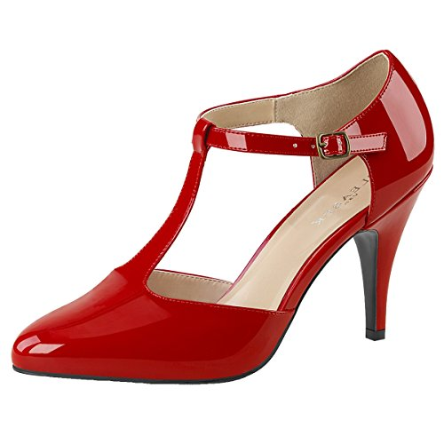 Heels-Perfect - alto Donna Rosso (Rot)
