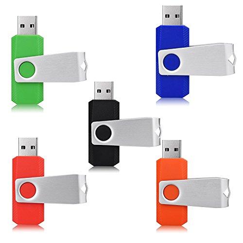 Yaxiny 5pcs 2.0/3.0usb flash drive pen drive memory stick pollice penna verde blu nero rosso arancione 2.0 2.0/64gb